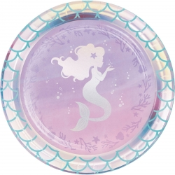 Mermaid Shine Iridescent Party Lunch Plates
