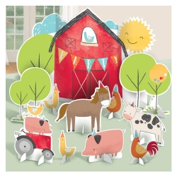 Barnyard Birthday Table Decoration Kit