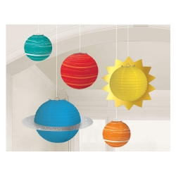 Blast Off Space Birthday Paper Lantern Kits