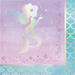 Mermaid Shine Iridescent Party Napkins