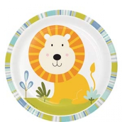 Happi Jungle Safari Party Lunch Plates Lion