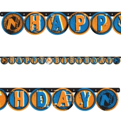 Nerf Party Happy Birthday Banner