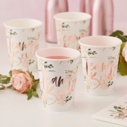Team Bride Floral Party Cups
