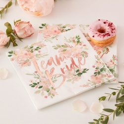 Team Bride Floral Party Napkins