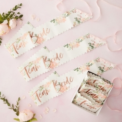 Team Bride Floral Party Bride Hen Sashes