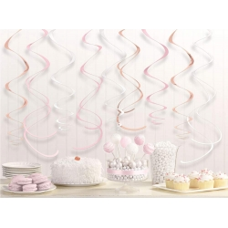 Rose Gold Blush Party Decorating Swirls