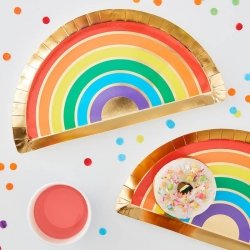 Over The Rainbow Party Plates