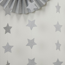 Ginger Ray Silver Glitter Star Party String