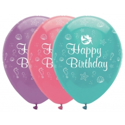 Mermaid Shine Party Happy Birthday Balloons
