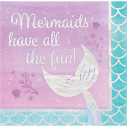 Mermaid Shine Party Mermaids Have All The Fun Napkins