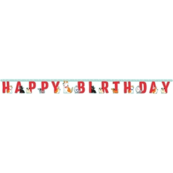 Perfect Paws Puppy Dog Party Happy Birthday Banner