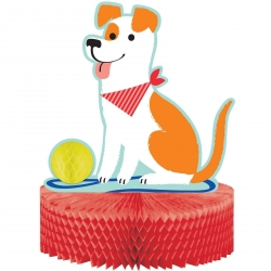 Perfect Paws Puppy Dog Party Honeycomb Centrepiece