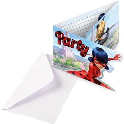 Miraculous LadyBug Party Invitations