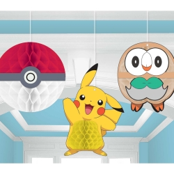 Pokemon Core Honeycomb Party Decorations