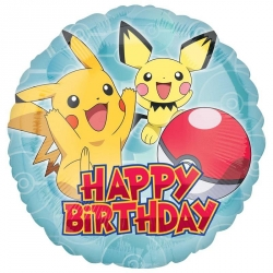 Pokemon Core Happy Birthday Party Foil Balloons