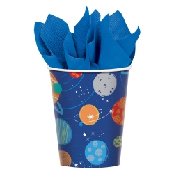 Blast Off Space Birthday Paper Party Cups