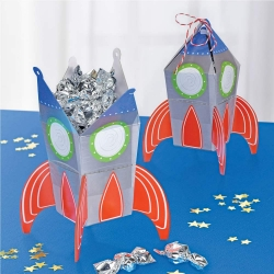 Blast Off Space Birthday Party Favour Boxes