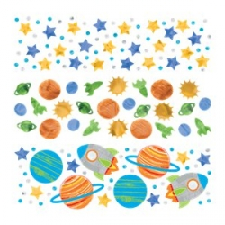 Blast Off Space Birthday Party Table Confetti