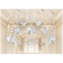 Silver Shooting Stars Swirls Party Pack