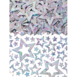 Silver Shimmer Star Party Confetti