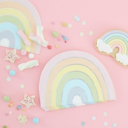 Ginger Ray Pastel Rainbow Napkins