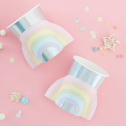 Ginger Ray Rainbow Pastel Iridescent Party Cups