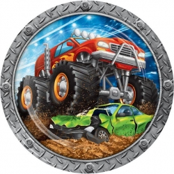 Monster Truck Rally Party Plates