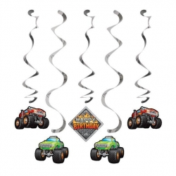 Monster Truck Rally Party Dizzy Dangler Decorations