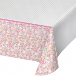 1st Birthday Farmhouse Pink Party Tablecover