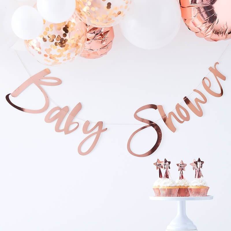 Rose Gold Twinkle Twinkle Baby Shower Banner
