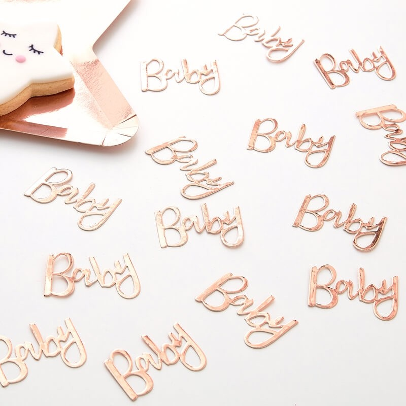 Rose Gold Twinkle Twinkle Baby Table Confetti