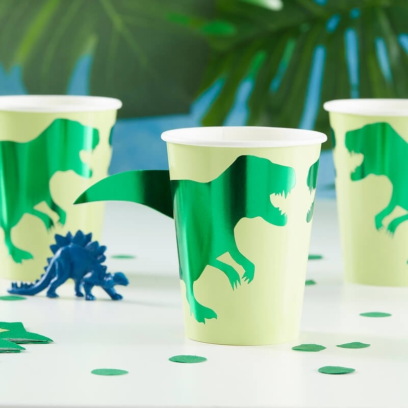 Ginger Ray Roarsome Dinosaur Party Cups