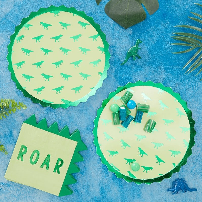 Ginger Ray Roarsome Dinosaur Party Plates