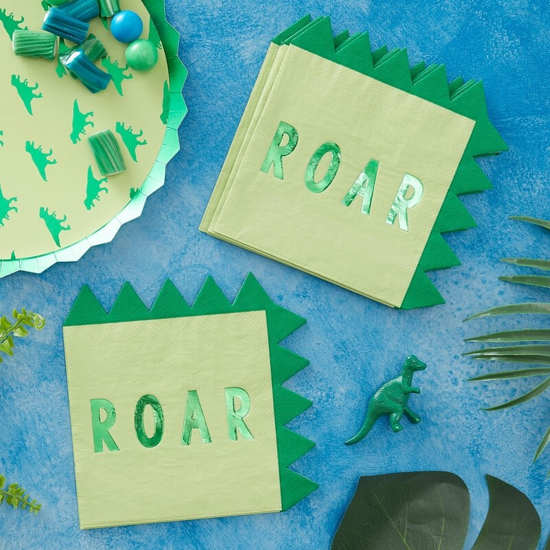 Ginger Ray Roarsome Dinosaur Party Napkins