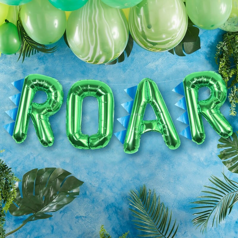 Ginger Ray Roarsome Dinosaur Balloon Banner Kit