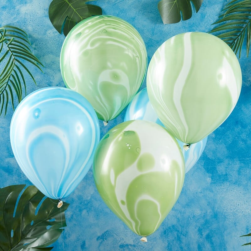 Ginger Ray Roarsome Dinosaur Party Marble Balloons