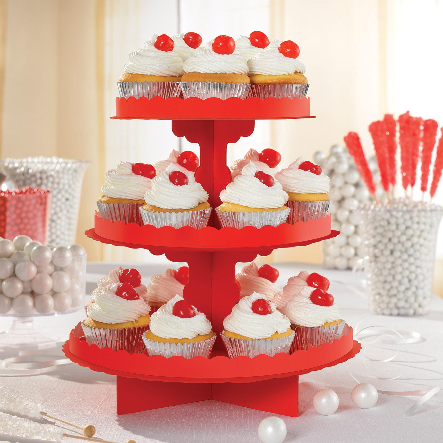 Red Party Cupcake Stand