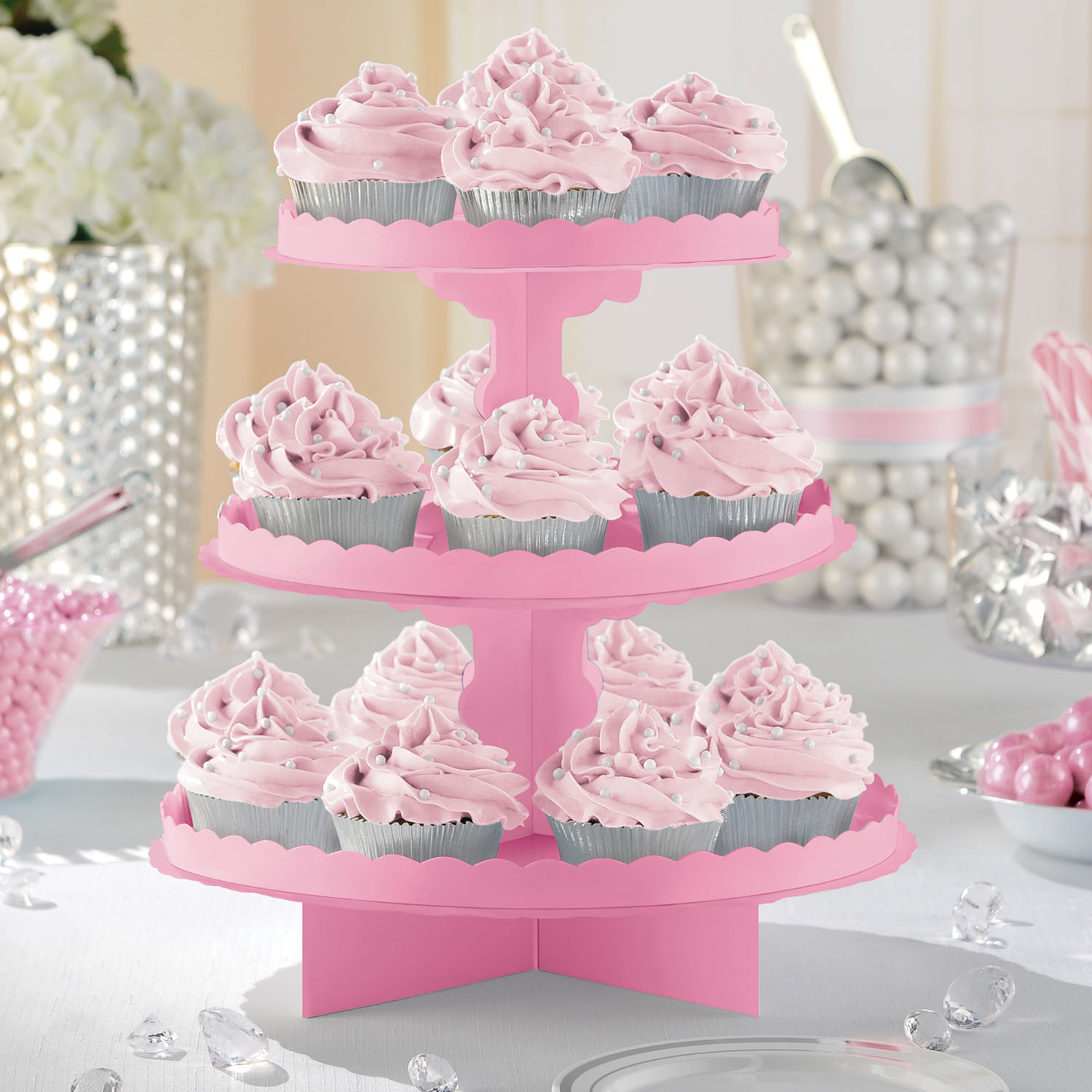 New Pink Party Cupcake Stand