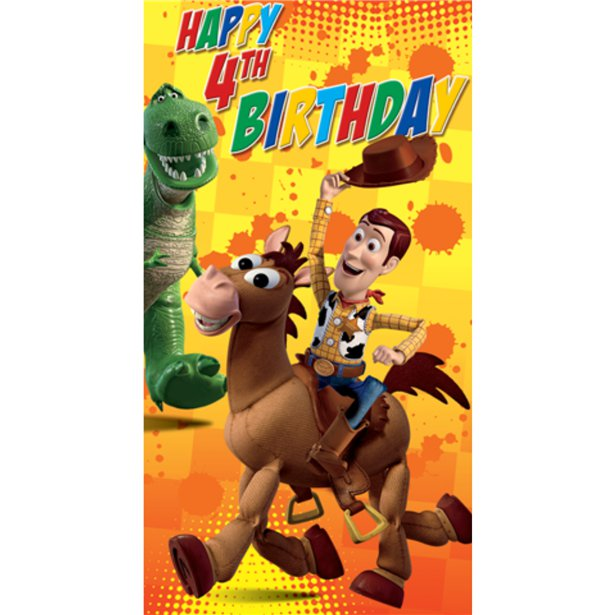 Toy Story Birthday Card Age 4