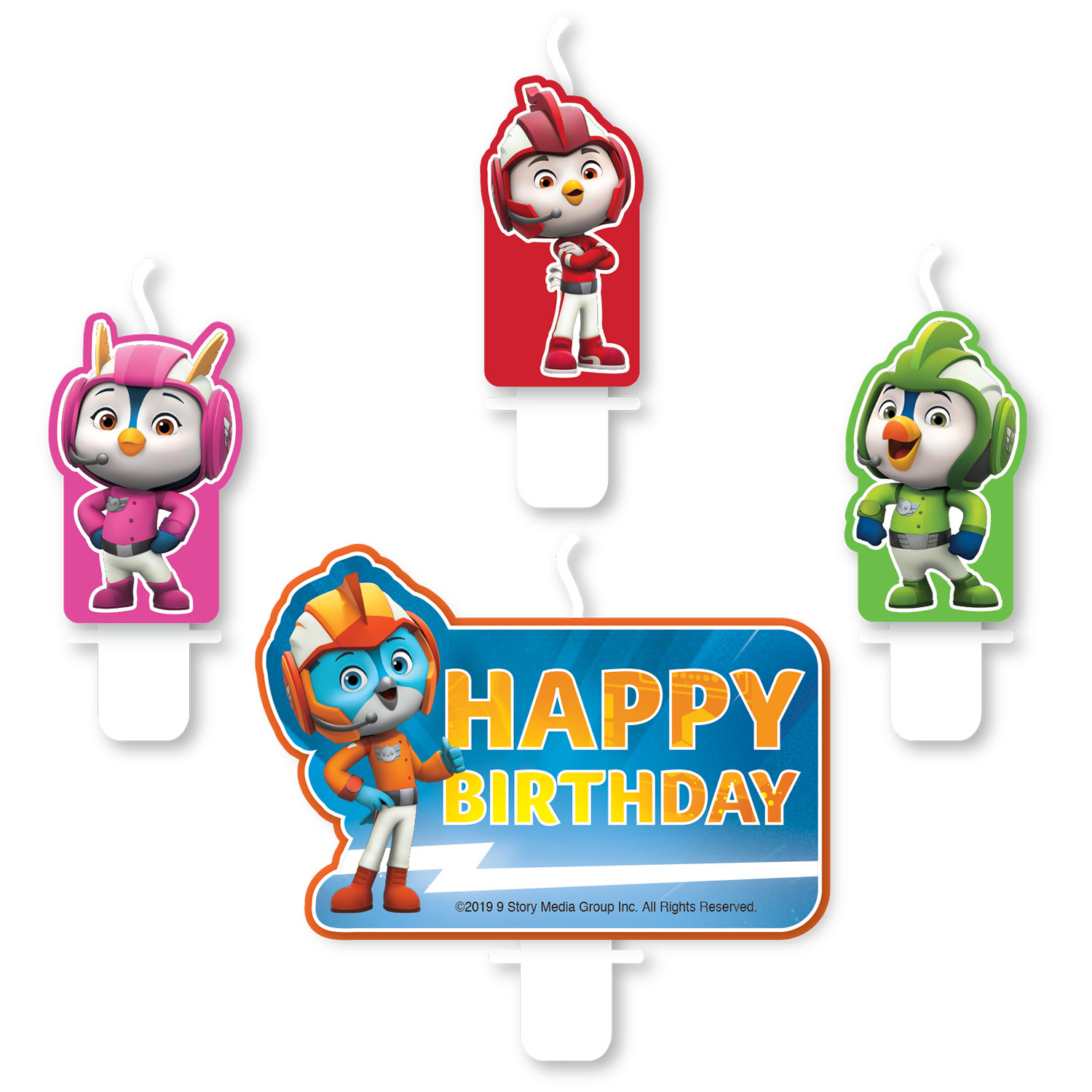 Top Wing Party Happy Birthday Candles