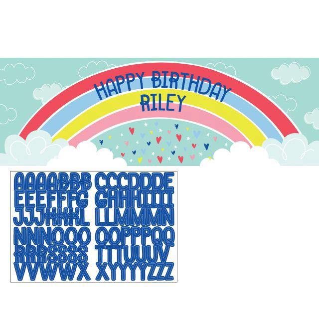Over The Rainbow Party Personalise Giant Banner Kit