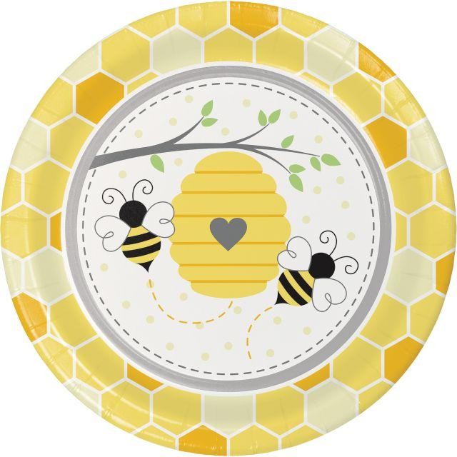 Bumble Bee Baby Party Plates