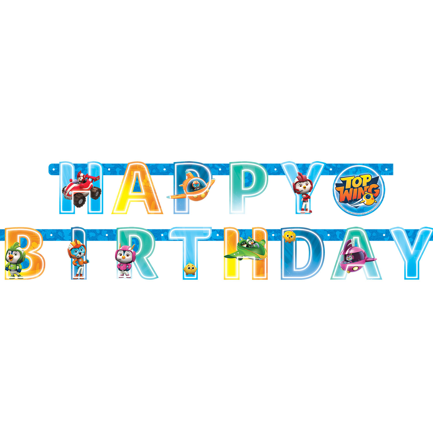 Top Wing Happy Birthday Party Banner