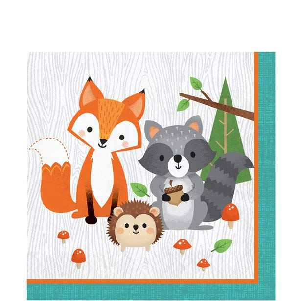 Wild One Woodland Animals Party Napkins