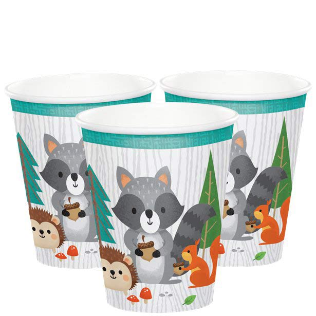 Wild One Woodland Animals Party Cups