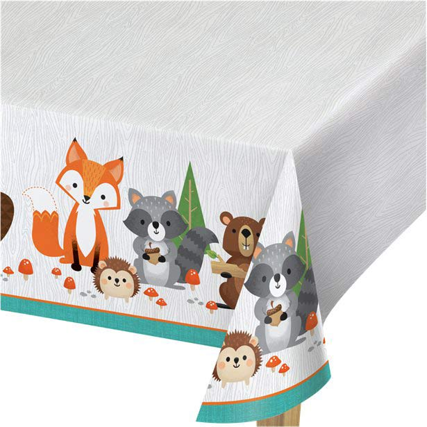 Wild One Woodland Animals Party Tablecovers