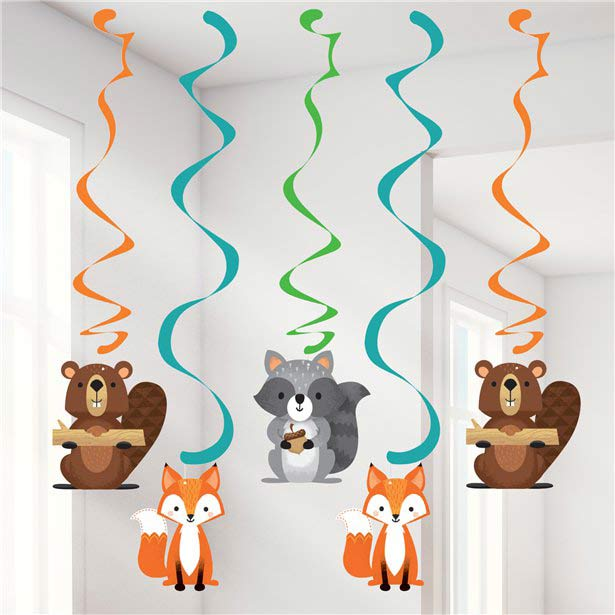 Wild One Woodland Animals Party Danglers