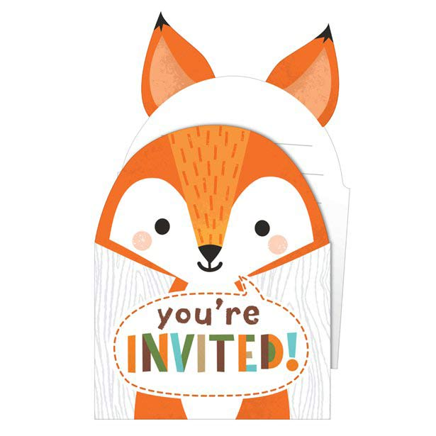 Wild One Woodland Animals Party Pop Up Invitations