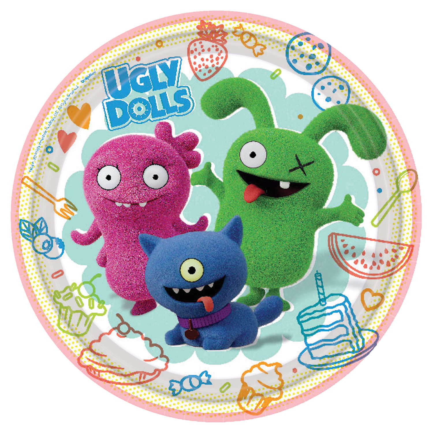 New Ugly Dolls Party Plates