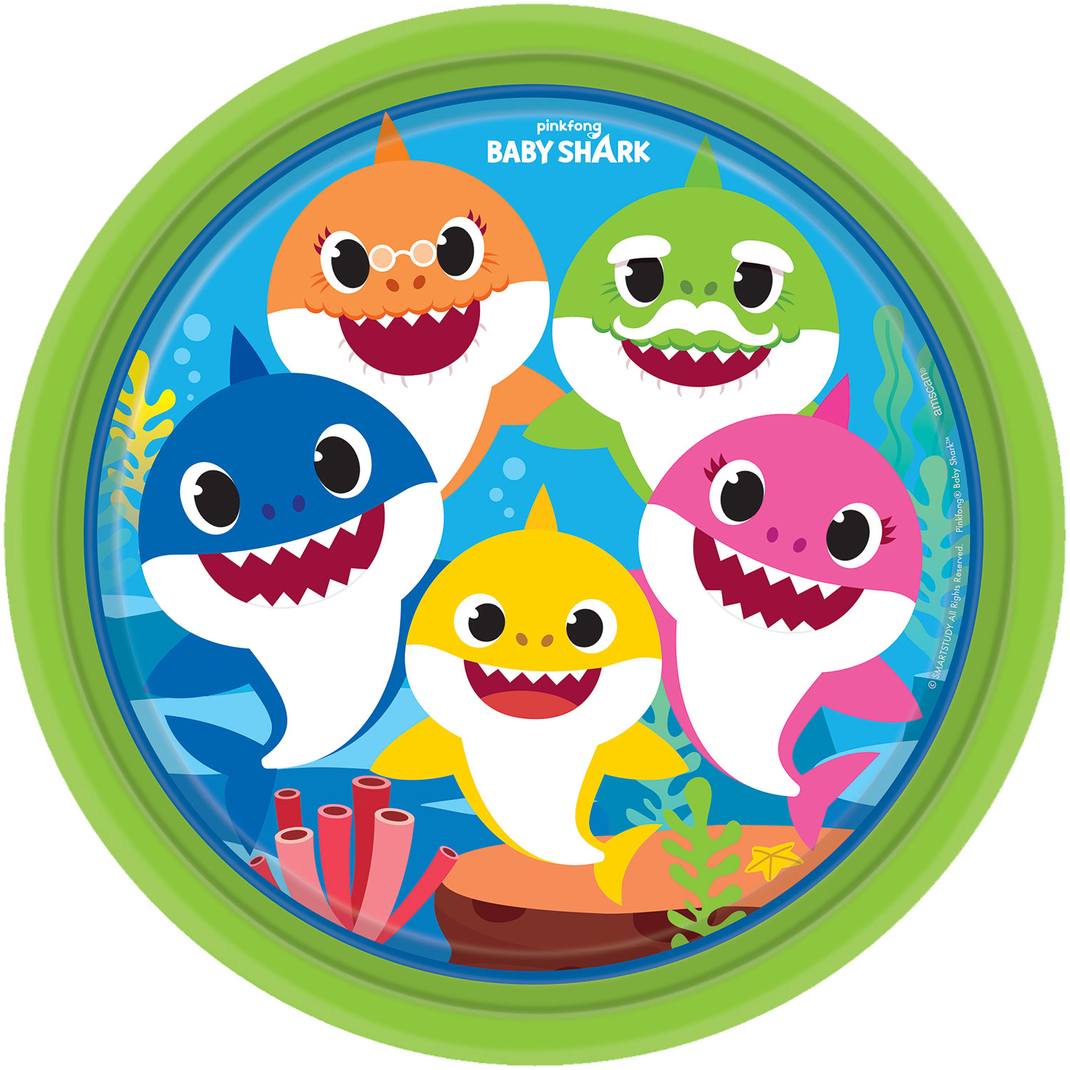 Baby Shark Party Plates